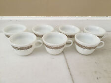 (7) Pyrex Woodland Brown Tea Coffee Cup Corning NY