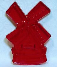 Vintage HRM Design Red Cookie Cutter - Windmill Dutch Cookie Spring Speculaas