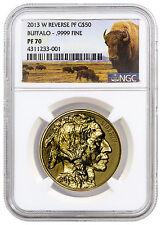 2013-W 1oz. $50 Gold Buffalo NGC Reverse PF70 *BUFFALO LABEL* SKU30556