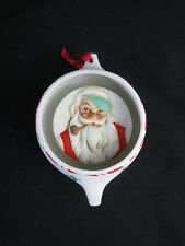 Norman Rockwell Vintage Porcelain 1982 Santa Ornament Shadow Box Raised Relief