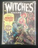 Witches Tales January 1973 Monster That Burns A Scream Of Horror Vintage