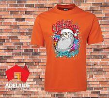 JB's T-shirt DTG Printed Santa Merry Christmas Happy Holidays Mens Sizes Xmas