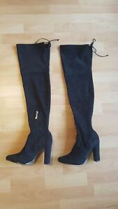 Knee Lenght Black Boots Size 7