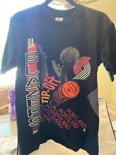 1991 Vtg Portland Trail Blazers T Shirt NBA Finals, Black, Size Large