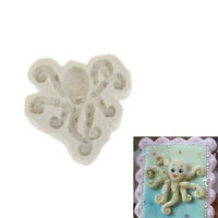 Octopus Silicone Fondant Mold Cake Decorating Tool Chocolate Gumpaste Mould TO