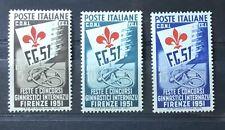REPUBBLICA 1951 SERIE GINNICI. GOMMA INTEGRA.