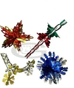 GARLANDS SNOWFLAKES CHRISTMAS LARGE WALL HANGING DECORATION CEILING FESTIVE XMAS