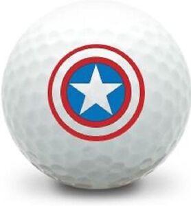 3 Dozen Callaway Mint AAAAA (Captain America Logo) USED Golf Balls