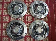 """1960's Ford     Set of Four Small dogdish OEM Hubcaps for 13"""" Wheel"""