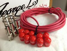 George L's 155 Pedalboard Effects Cable Kit .155 Red / Nickel - 10/10/10
