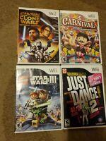 Lot of 4 Nintendo Wii Games