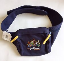 Disneyland Disney California Adventure Embroidered Adjustable Fanny Pack Pouch