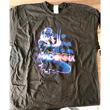 Madonna Official Ex Tour Mens Black T-Shirt Pole European Tour Vintage Retro X-L