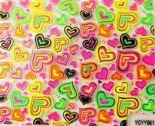 Accessoire ongles,nail art,  Sticker autocollant , Motifs coeurs fluo