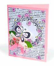 Sizzix Floral Wreath Emboss & Stamp set #657768 Retail $19.99 Retired BEAUTY!!