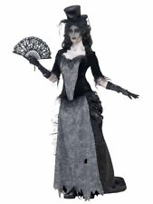 Zombie Ghost Town Black Widow Ladies Halloween Costume Adult Party Fancy Dress