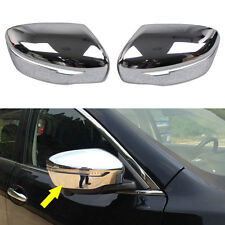 Chrome Car Rear View Mirror Side Cover Trim For Nissan Rogue X-Trail 2014-2018