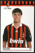 Ac Milan Cartolina Ufficiale 2009/10 n.17 GIANMARCO ZIGONI!! Nuovissima!