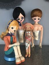 Vintage 1960s Japanese Pose Dolls Retro Kitsch Japan