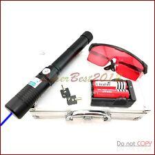 3WSD960B 450nm Burning Blue Laser Pointer With 2 X 18650 Li Battery Burn Matches