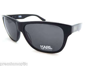 KARL LAGERFELD ladies Sunglasses KS6012 001 Shiny Black / Dark Grey NEW