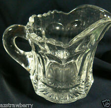 Vintage Depression Glass Small Clear Glass Pitcher Creamer