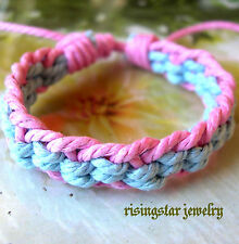 Lady Cool Classic Braided Multi-Color Hemp Fashion Sufer Characters Bracelets