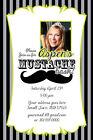 MUSTACHE BASH Printable Birthday Party Invitation File Photo Girl Print Sweet 16