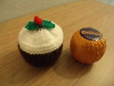 Xmas Pudding  Chocolate Orange cover knitting pattern & WOOL TO MAKE ONE COVER