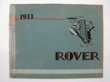 Gamme rover-Voiture la brochure commerciale - 1933