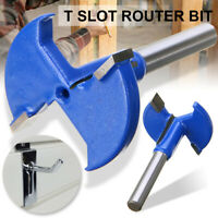1/4'' Shank Straight T-Track T-Slot Router Bits Woodworking Cutter Practical