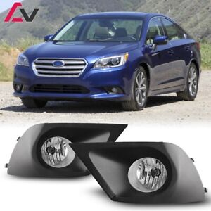 15-17 For Subaru Legacy Clear Lens Pair OE Fog Light Lamp+Wiring+Switch Kit DOT