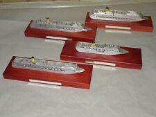 4 Schiffsmodelle Costa massiv Metall auf Holzsockel Konvolut