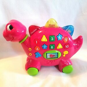 Navystar Dinosaur Learning Toy Music Lights Colors Shapes Number English Spanish