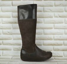 FITFLOP TALL Womens Brown Leather Knee High Long Boots Shoes Size 5 UK 38 EU