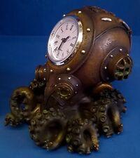NEMESIS NOW STEAMPUNK DESIGN CLOCKTOPUS - DEEP SEA DIVER HELMET OCTOPUS CLOCK