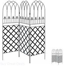 Privacy Trellis Metal Garden Climbing Plants Lattice Screen 3-Panel 6 ft Fence