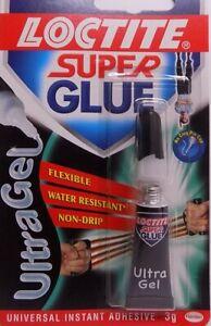 LOCTITE SUPER GLUE ULTRA GEL 3g Size Instant Adhesive. UK SELLER. free post.