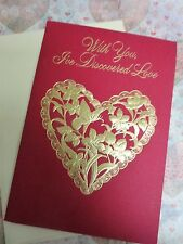 """Vintage VALENTINE'S DAY CARD UNUSED By Hallmark """"With You, I've Discovered Love"""""""