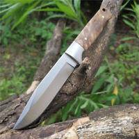 Fine Pro Sheath Fixed Blade Camping Knives Straight Survival Wood Tactical Knife