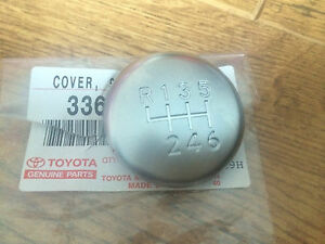 GENUINE TOYOTA AVENSIS 2006 GEAR KNOB CHROME CAP TOP ONLY 6 SPEED 2006