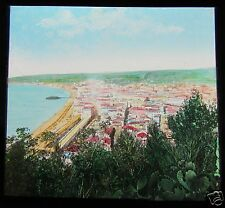 Glass Magic Lantern Slide NICE - THE BAY C1910 SOUTH OF FRANCE RIVIERA