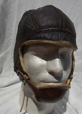 WW2 USN USMC F4U Corsair Pilots Type Leather Helmet Type 1092W Size 7 1/4, NICE!