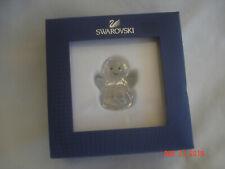 Mint Boxed Retired Swarovski Austria Rocking Angel Figurine w/ Certificate