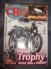 CLASSIC BIKE GUIDE 10/97 TRIUMPH TROPHY HARLEY XLCR CAFE RACER ROYAL ENFIELD 250