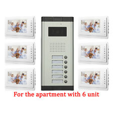 Apartment 6 Unit Intercom Entry System Wired Video Door Phone Audio Visual