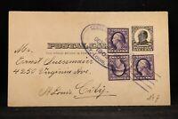 RPO: Centennial Parade 1909 Uprated Postal Card, St Louis, Missouri Trolley