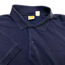 Hugo Boss Blue Short Sleeve Cotton Golf Tennis Polo Shirt - Mens Large L