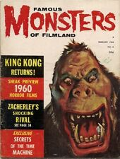 FAMOUS MONSTERS of FILMLAND #6, 1960 KING KONG HORROR issue