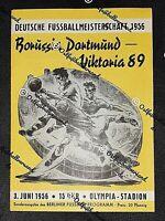 *RARITÄT* Programm 1956 Viktoria Berlin Borussia Dortmund Fussball DFB BVB 89